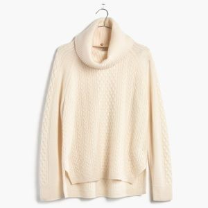 New Madewell Cashmere Convertible Turtleneck Med